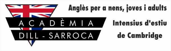 Rótulo sin iluminación una cara Academia Dill - Sarroca - Tarragona 200x60 cm