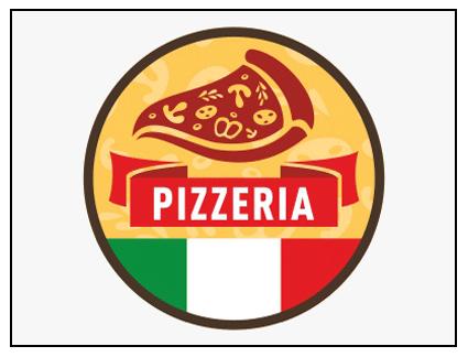 Rótulo presideñado pizzería