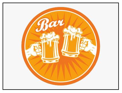 Rótulo presideñado bar