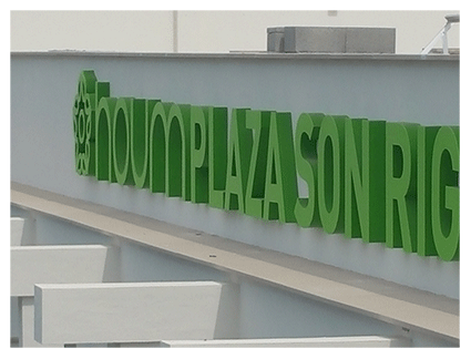 Letras corpóreas en relieve pvc