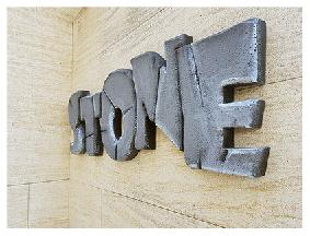 Letras de poliestireno tematizadas simil piedra
