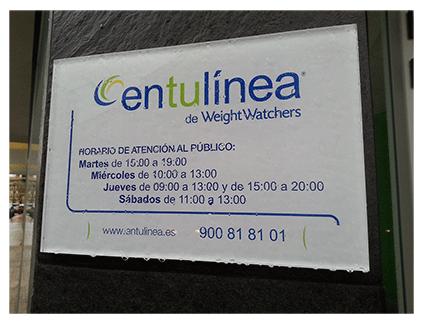 Placa de empresa para comercios