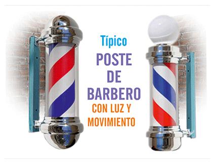 Poste de barbero tradicional