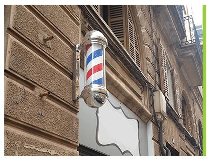 Poste de barbero para peluquerías
