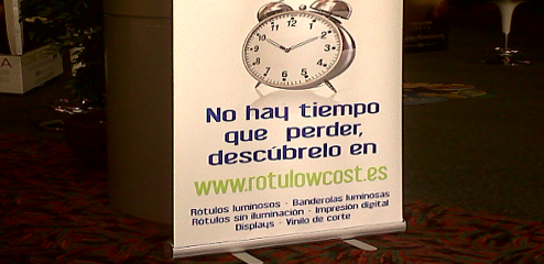 Roll-up expositor arrollable